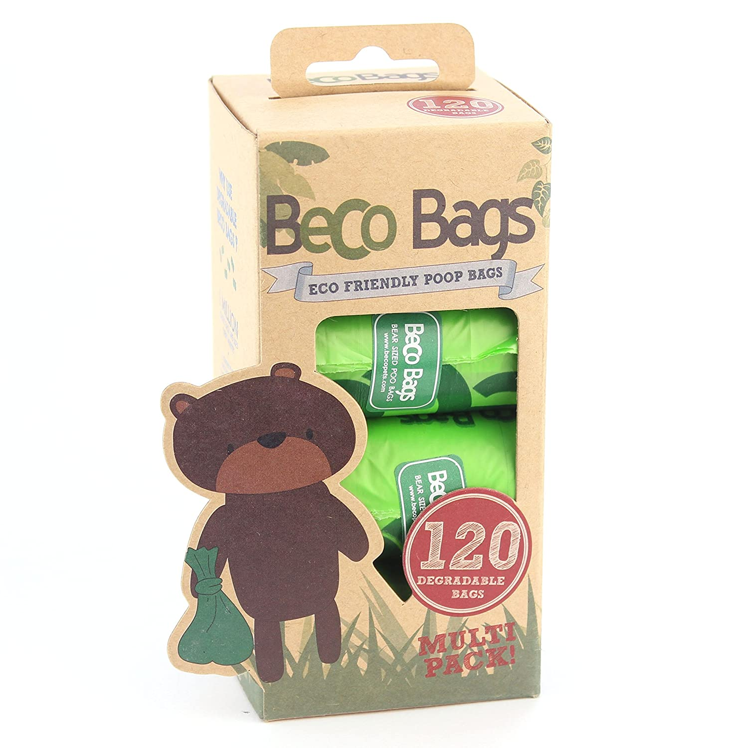Beco Bags - 120 Large Unscented Poop Bags for Dogs - Eco-Conscious and BecoThings BBG- 120