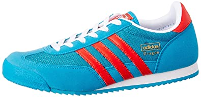 ab669bf36463 adidas Boys Originals Junior Boys Dragon Trainers in Blue - UK 3.5 ...