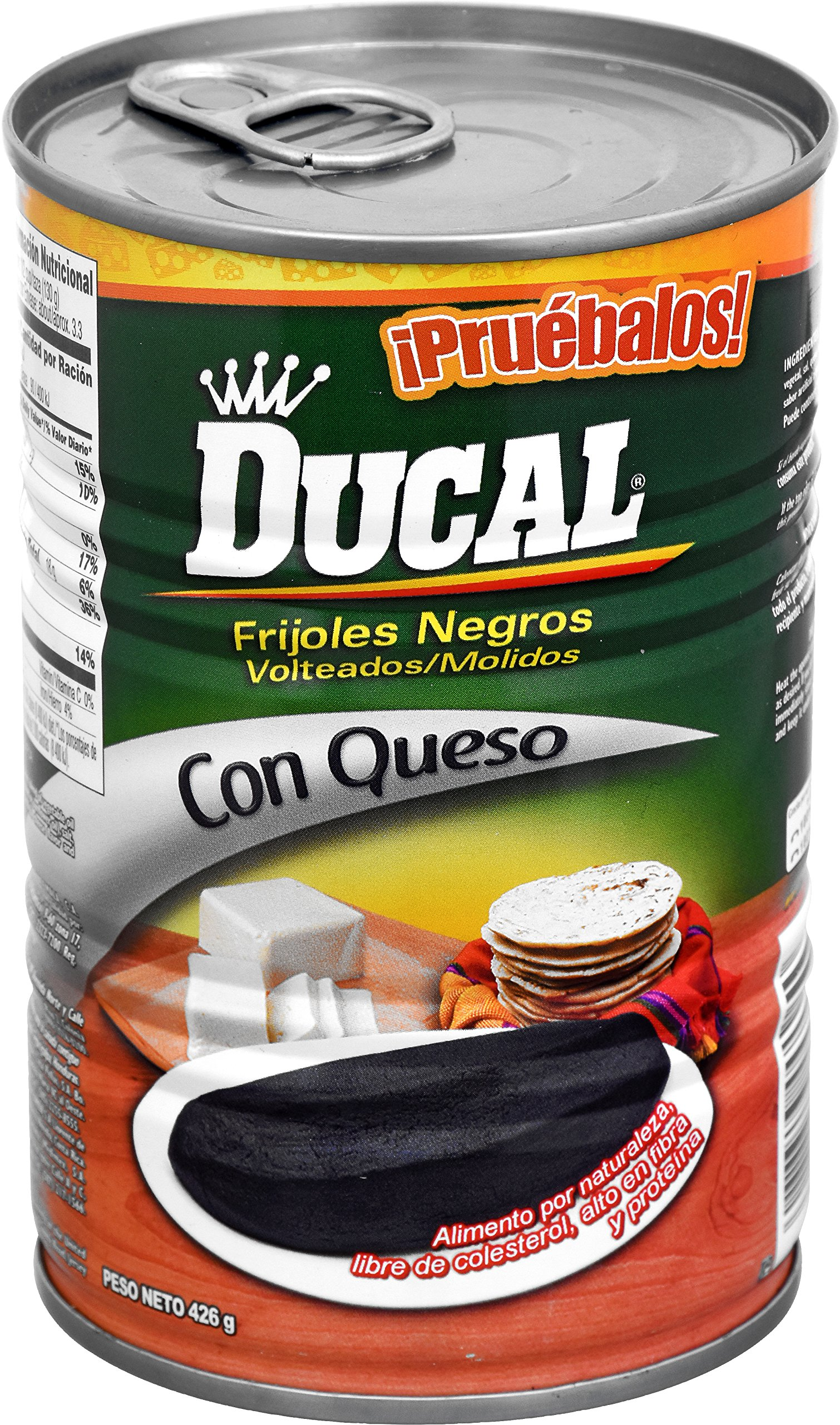 Ducal Refried Black Beans with Cheese, 15 Ounce (Pack of 24)