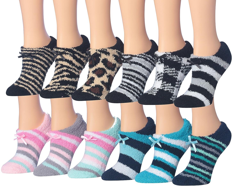 Tipi Toe Women's Colorful Fuzzy Sliper Socks