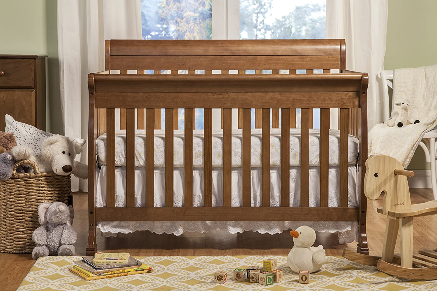 Baby bed hs code - Amazon Com Davinci Kalani 4 In 1 Convertible Crib With Toddler Rail Chestnut Baby