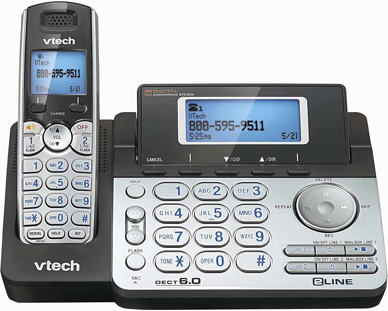 NEW VTECH DS6151 DECT 6.0 2-LINE CORDLESS PHONE 3 CORDLESS HANDSETS