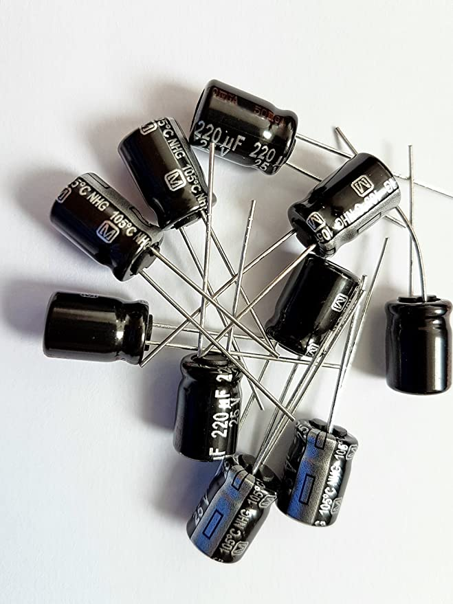 UK 25V max 2200uF Electrolytic Capacitor 1st CLASS POST - 105°C