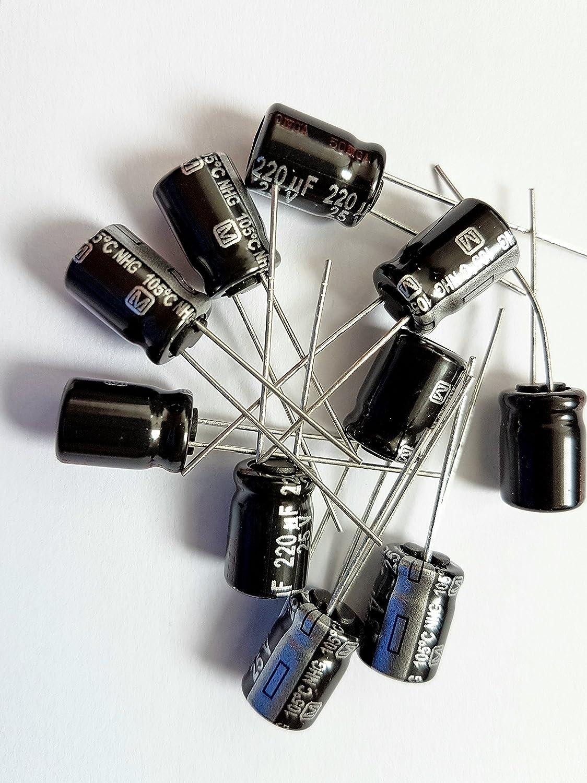 220uF Preis für : 5 Panasonic eeufr1e221 25V radial Kondensator