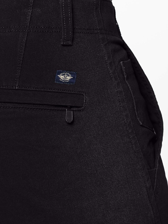 Nero 38W // 32L Uomo Black 0018 dockers Smart 360 Flex Alpha Skinny Pantaloni