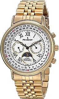 f1e8944cc42 Peugeot - Reloj de pulsera para hombre chapado en oro de 14 quilates ...