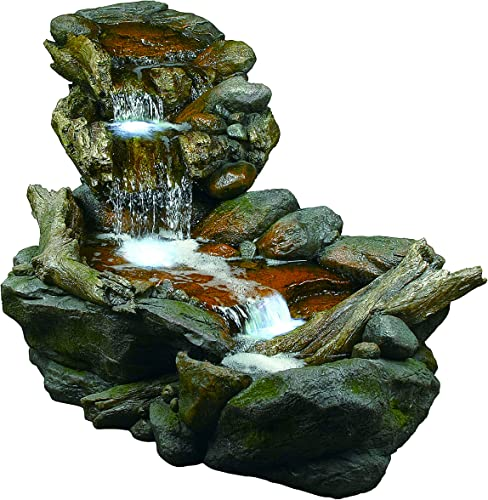 Jersey Home Decor Waterfall XXL 72 x24 Floor Standing Water Fountain, Mirror backgr,Color Lights, Remote Ctrl