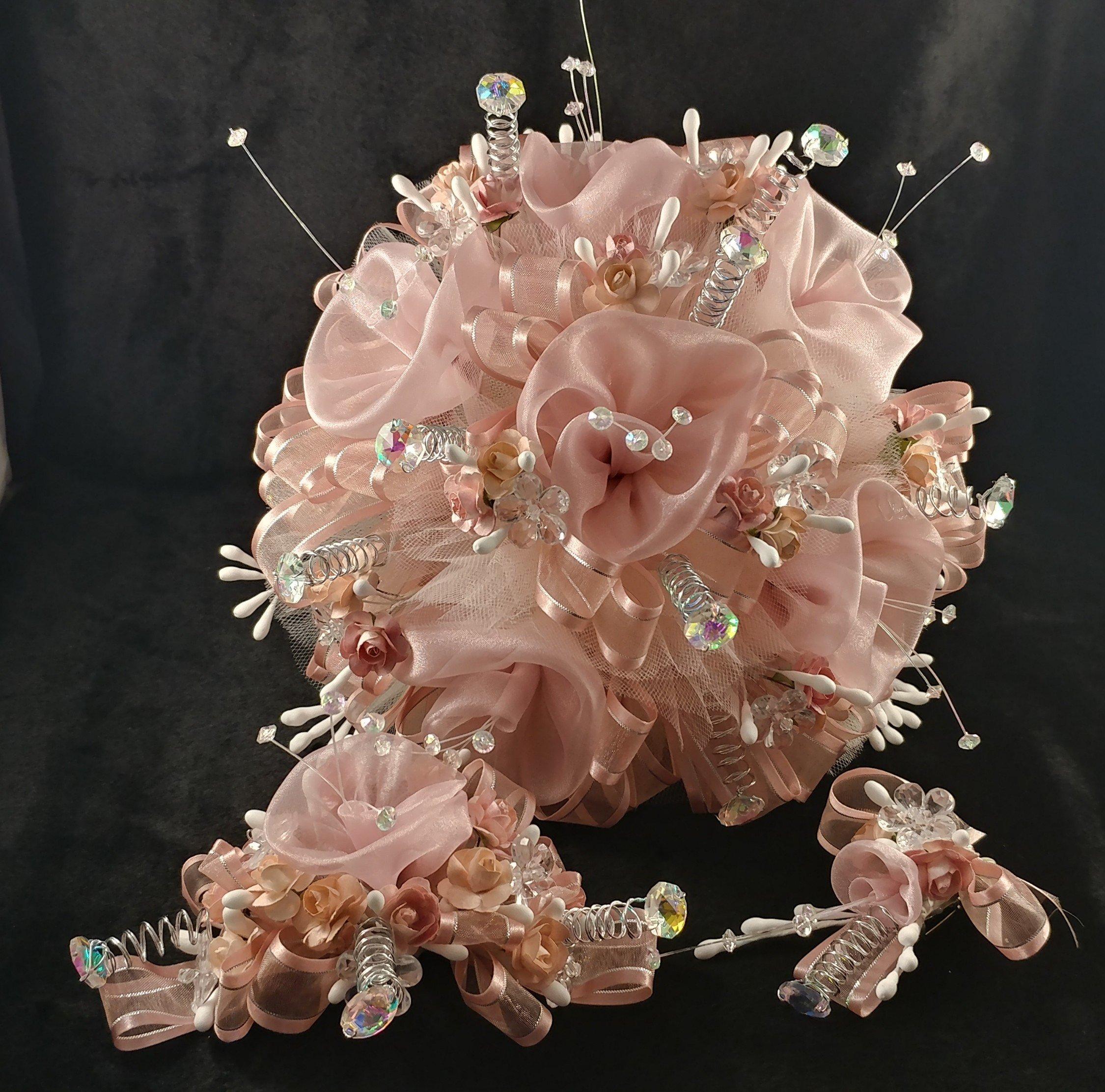15th Quinceañera Sweet Pink .'BLUSH COLOR & SILVER '., Ramo Para Quinceañera.