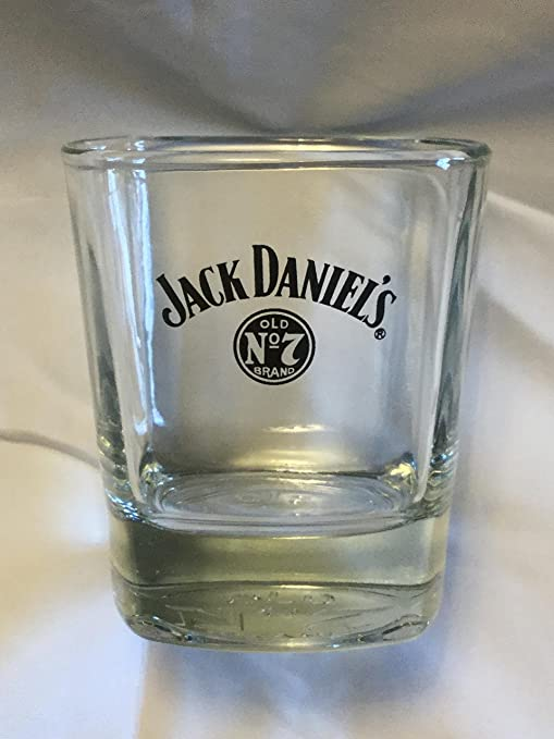 Jack Daniels Whiskey Old No7 Brand Shot Glasses x 2 Excellent Condition