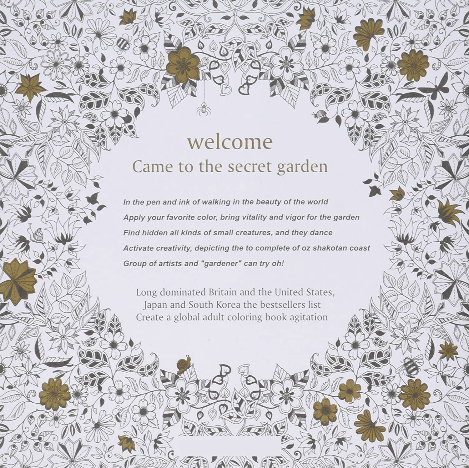 Amazon 5 Small Secret Garden Coloring Books By Prod Toys Games