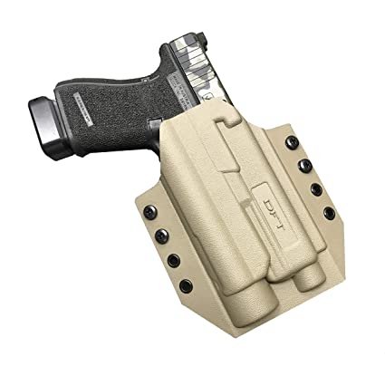 Dynamic Force Technologies CNO v 2 OWB Kydex Holster, Glock  19/23/32/17/22/31 with Streamlight TLR-1 HL, Right Handed - Made in The USA  - Outside The