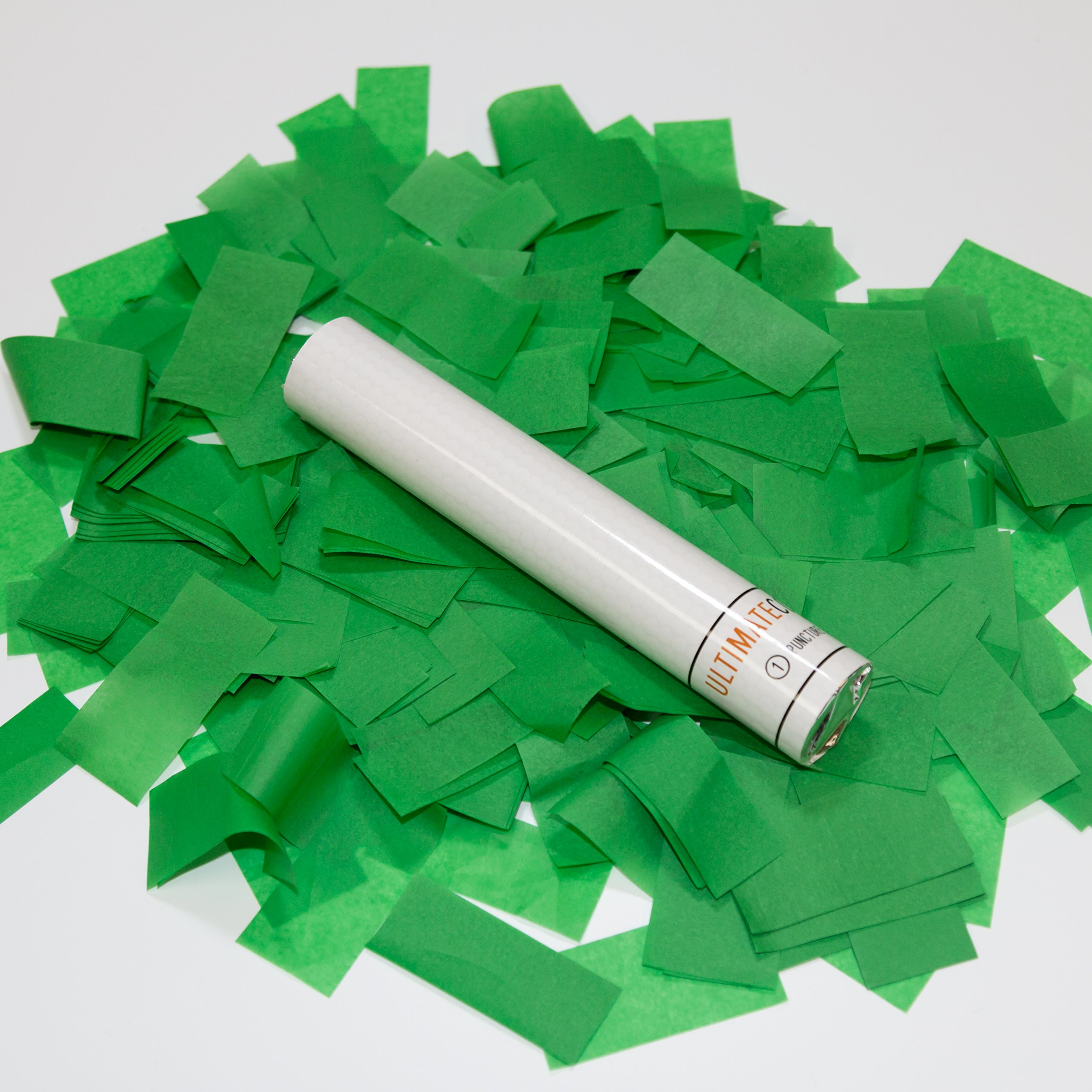 9 pk 6'' Green Confetti Wand Flick Stick Biodegradable ...