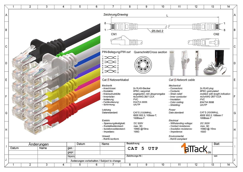 1attack Cat5 Utp Netzwerk Patch Kabel 05m Mit 2x Rj45 Pin Ps2 Wiring Diagram On Pinterest Computer Zubehr
