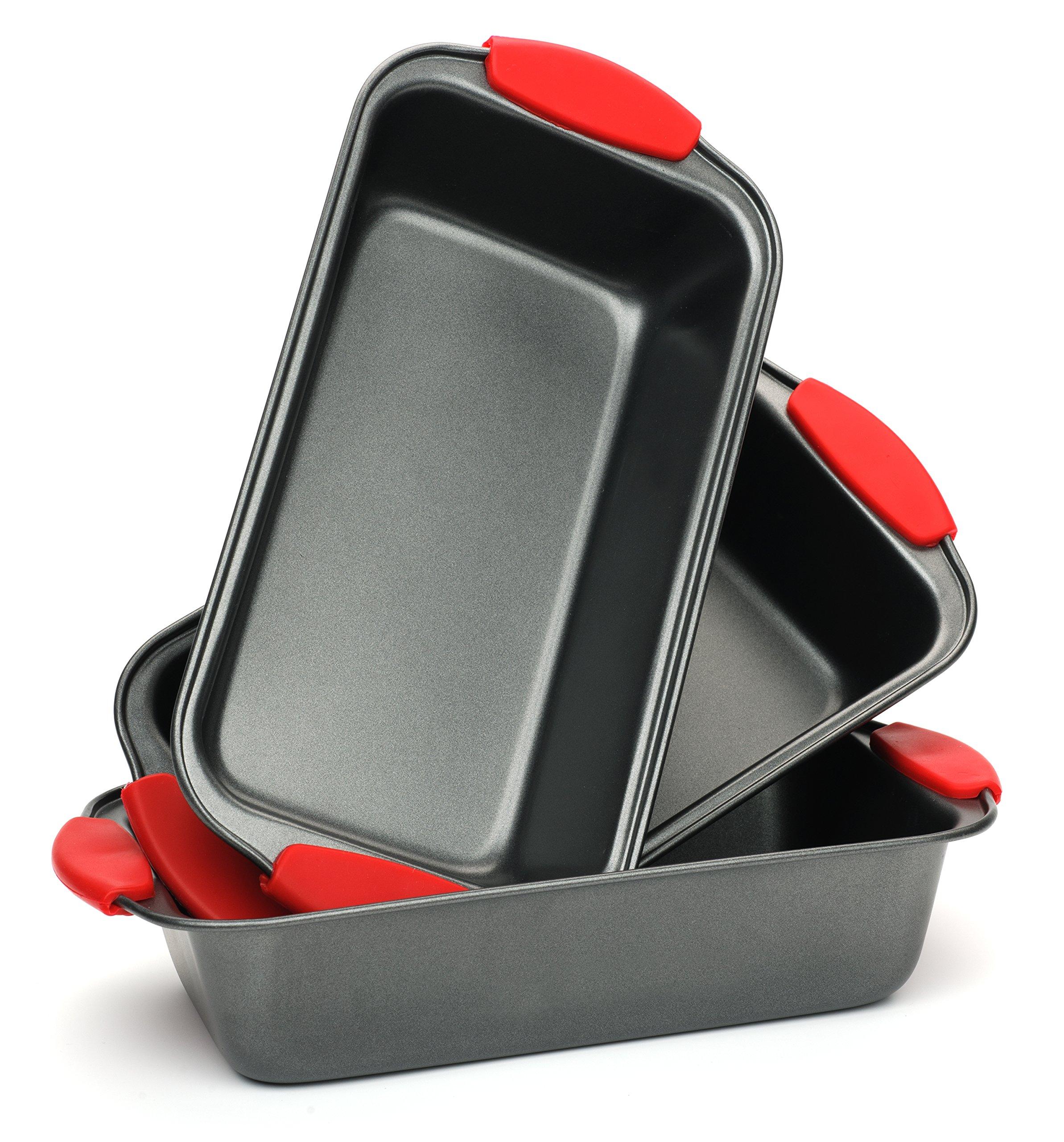 Elite Bakeware 3 Piece NonStick Bread Pan Set - Loaf Pans For Bread - Baking Pans - Bakeware Set by Elite Bakeware (Image #7)