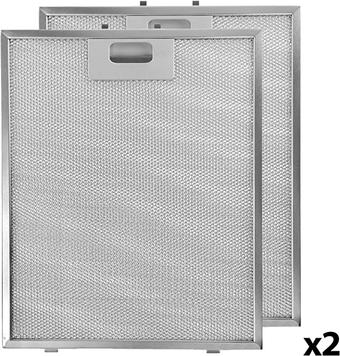 Spares2go - Rejilla de ventilación de filtro de aluminio para campana de horno Bosch – 265 x 395 mm (paquete de 2): Amazon.es: Hogar