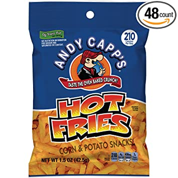 Andy Capp caliente del patatas fritas, 1.5-Ounce bolsas ...