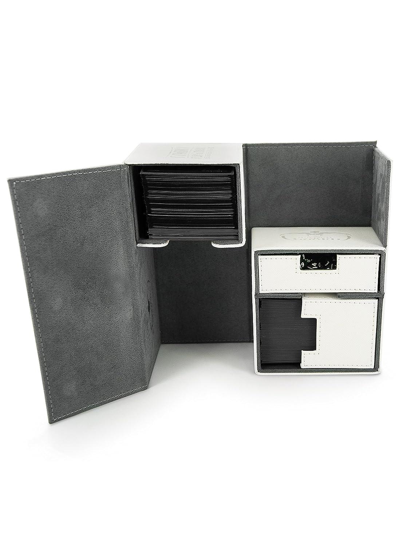 Color Blanco Ultimate Guard UGD10228 Twin Flip n Tray Case 160 Plus Estuche para Cartas Material Xenoskin