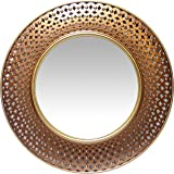 Infinity Instruments Bolly 15.75 Inch Gold and Copper Wall Mirror