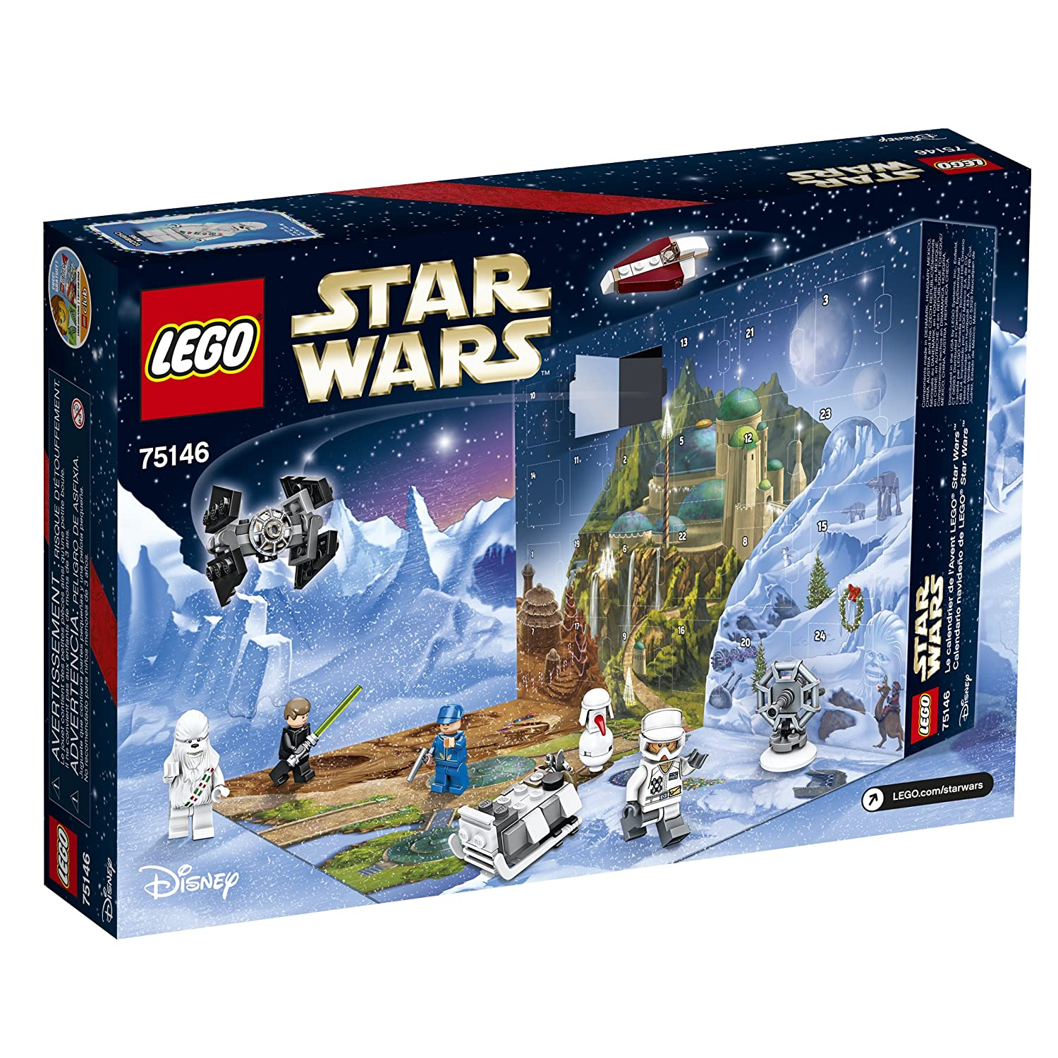 amazoncom lego star wars 75146 advent calendar building kit 282 piece discontinued by manufacturer toys games