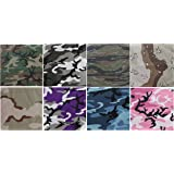 "Army Universe 8 Pack - Jumbo Bandanas Camouflage Cotton Military Headwraps 27"" x 27"""