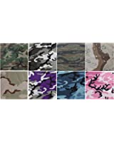 "8 Pack - Jumbo Bandanas Camouflage Cotton Military Headwraps 27"" x 27"""