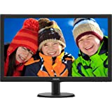 "Philips 273V5LHSB 27""Class LED Monitor, Full HD, 300cd/m2, 1ms, VGA, DMI, VESA"