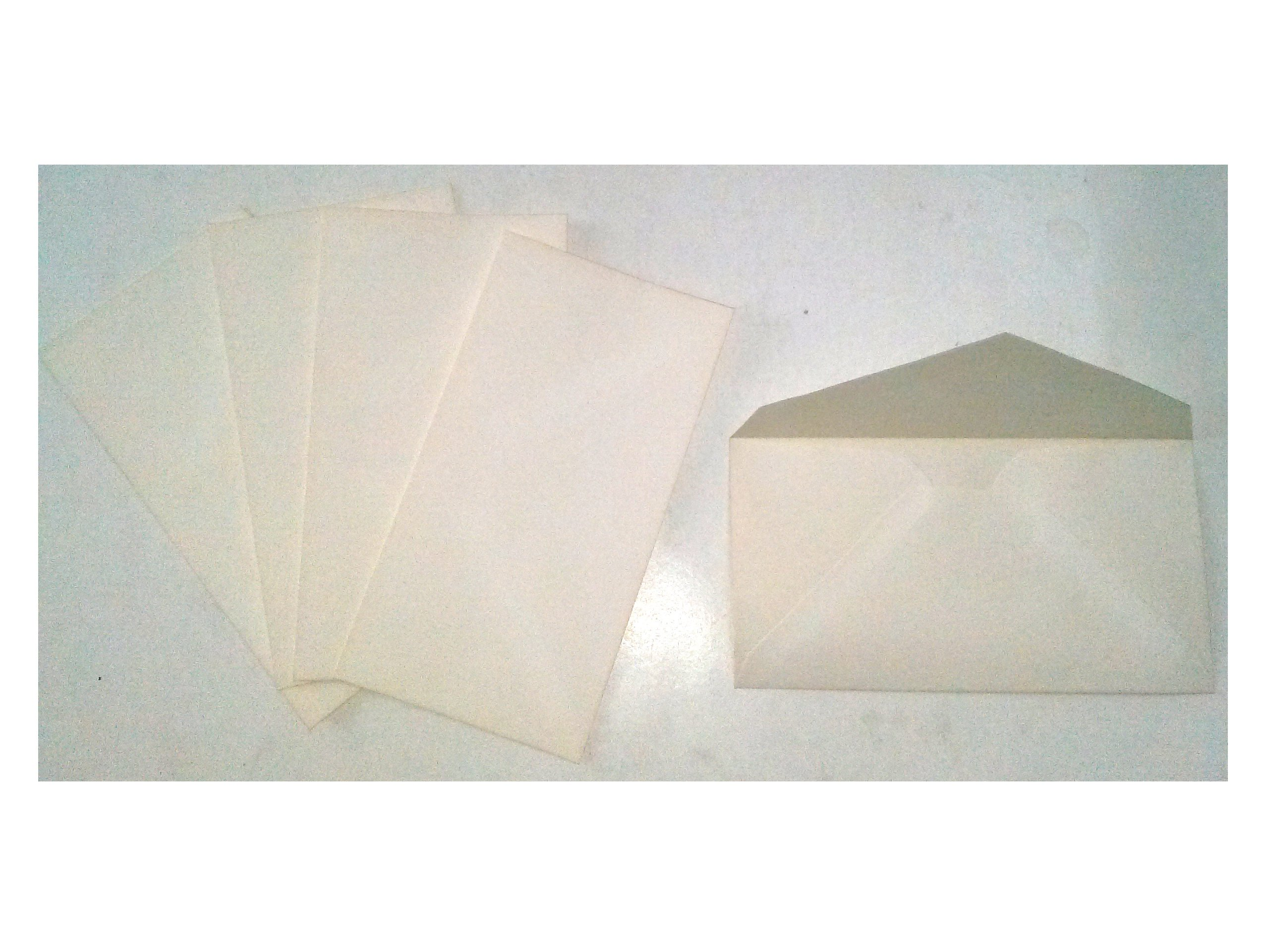 Crane's E24S Monarch Envelopes Distaff Linen Sub 24 100% Cotton Rag White Wove Sold in Bulk Packages of 25 Envelopes