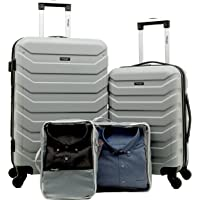 Wrangler 4-Piece Luggage and Packing Cubes Set
