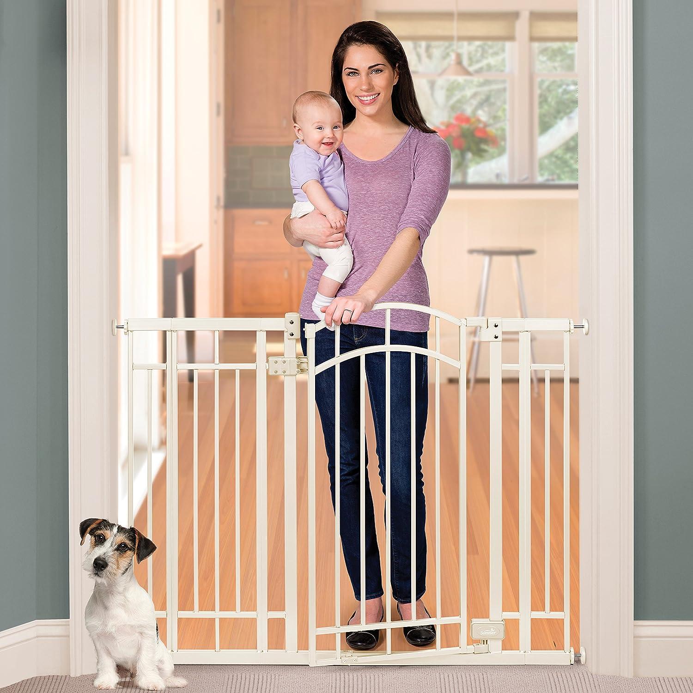 Summer Infant Multi-Use Deco Extra Tall Walk-Thru Gate, Beige 28.5 – 48 Inch