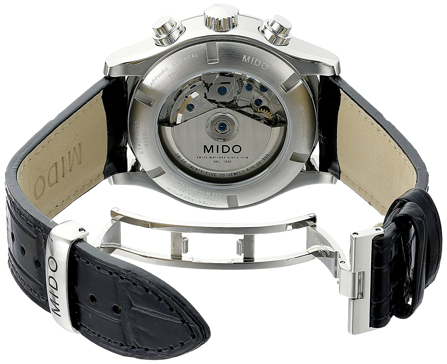 Amazon.com: Mido Mens MIDO-M0056141606100 Multifort Analog Display Swiss Automatic Black Watch: Watches