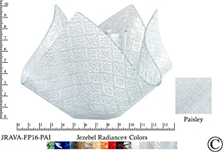 product image for Jezebel Radiance JRAVA-FP16-PAI Glass Vase Lamp, Paisley