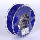 eSUN 3D 3mm PETG Solid Blue Filament 1kg (2.2lb), PETG 3D Printer Filament, Actual Diameter 2.85mm +/- 0.05mm, Solid Opaque Blue