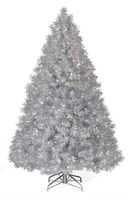 3b34f3f31dc1 6' Treetopia Silver Stardust Tinsel Artificial Christmas Tree - Clear:  Amazon.co.uk: Kitchen & Home