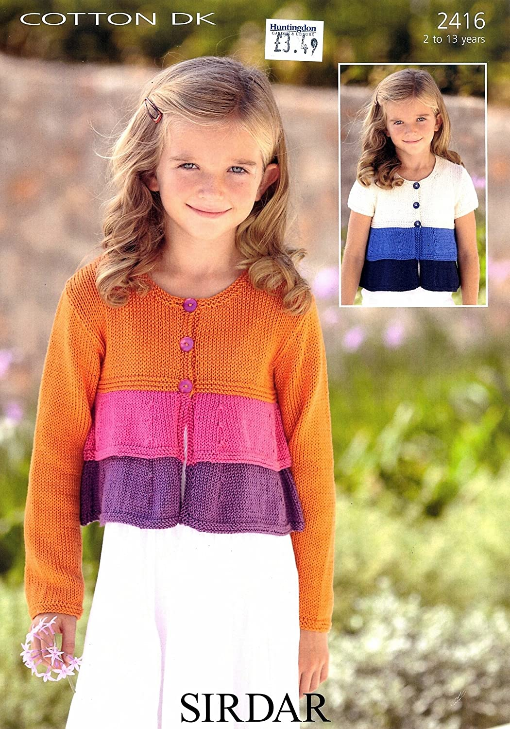Sirdar cotton dk knitting pattern 2416 girls cardigans size 2 13 sirdar cotton dk knitting pattern 2416 girls cardigans size 2 13 years56 81cm 22 32inch amazon kitchen home bankloansurffo Image collections