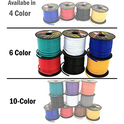 16 Gauge Low Voltage Primary Wire 6 Roll Color Pack 100 ft Roll (600 feet Total) Copper Clad Aluminum Cable for 12 Volt Car Stereo Amplifier Remote Trailer Harness Wiring. Also in 4 or 10 Color Set: Industrial & Scientific