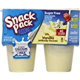 Snack Pack Sugar-Free Vanilla Pudding Cups, 4 Count, 12 Pack