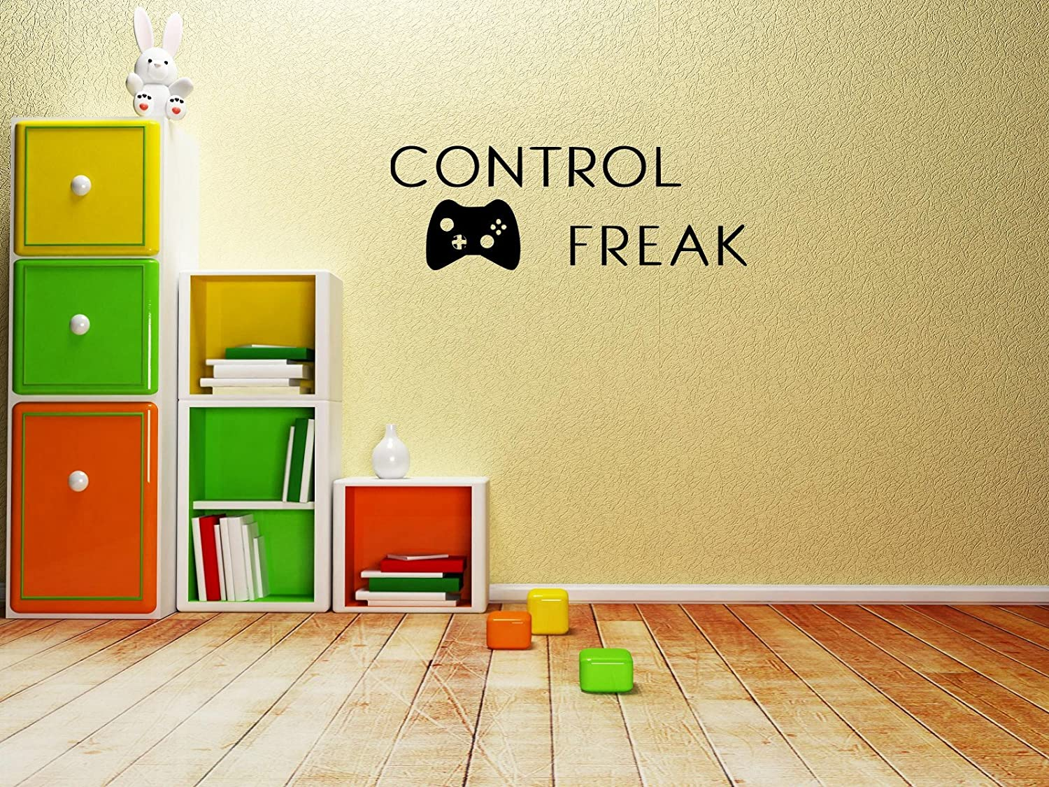 Amazon.com: Control Freak video game wall decal black or white 25 ...