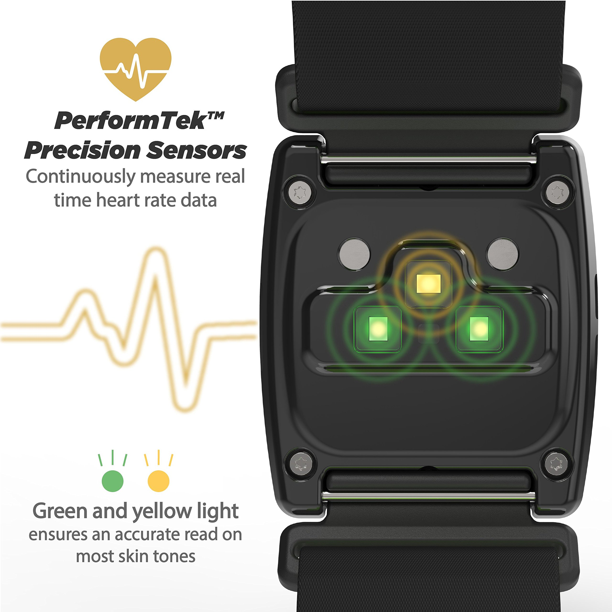 Scosche Rhythm24 - Waterproof Armband Heart Rate Monitor - Green by Scosche (Image #3)