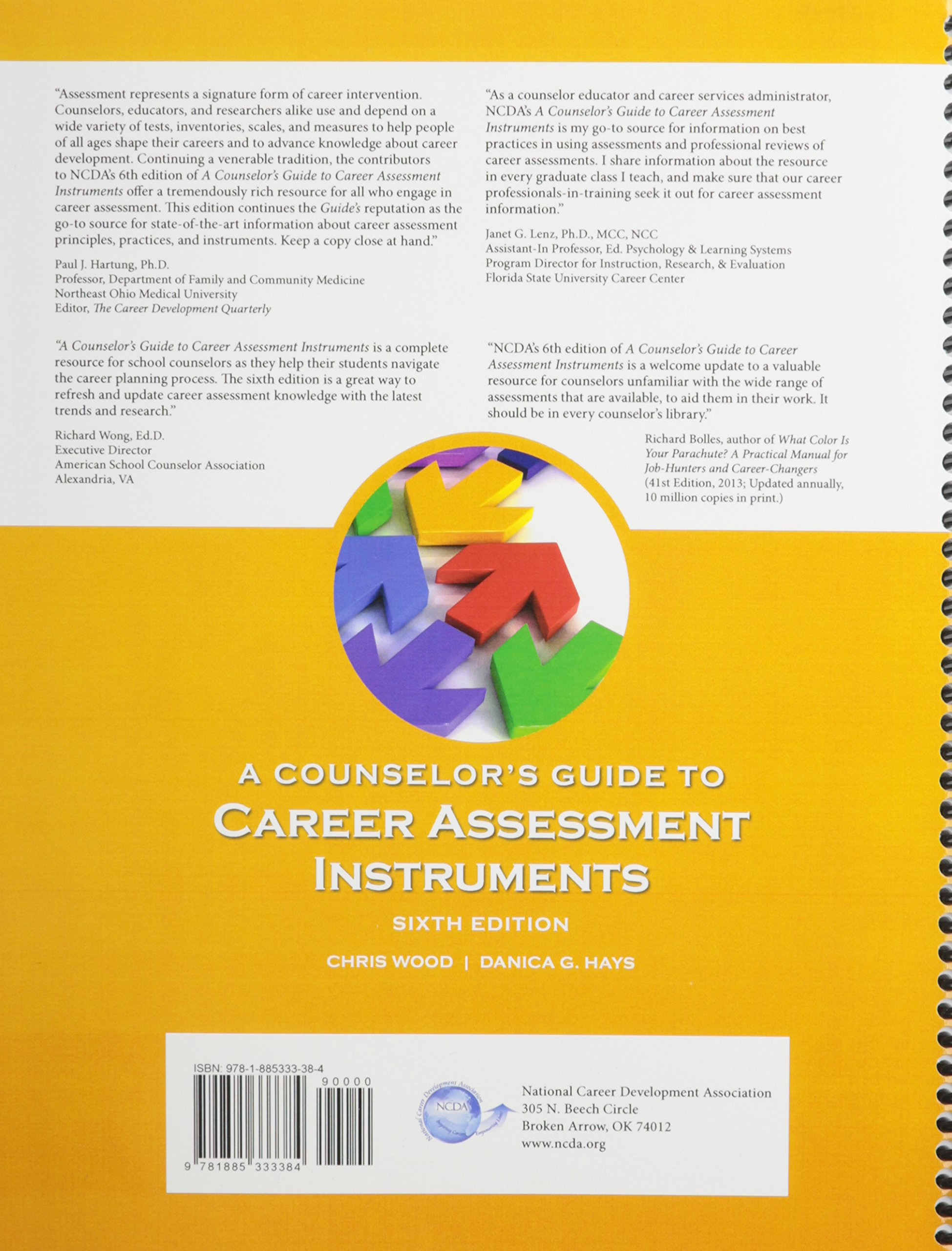a counselor s guide to career assessment instruments chris wood a counselor s guide to career assessment instruments chris wood 9781885333384 amazon com books