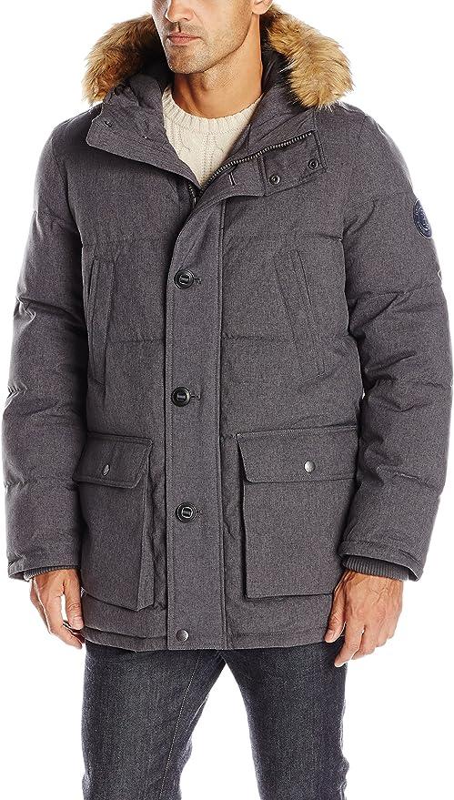 金盒特价 Tommy Hilfiger 汤美费格 毛领连帽男式棉服 2.9折$99.99 海淘转运到手约¥793 多色可选