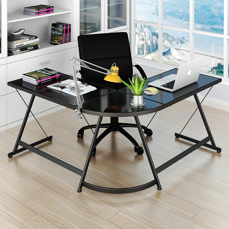 Amazon SHW L Shaped Home fice Corner Desk Kitchen & Dining