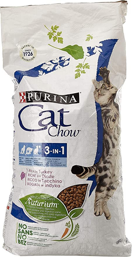Purina Cat Chow 3en1 Gato Adulto Buey 15 Kg: Amazon.es: Productos ...