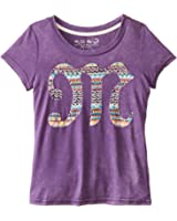 Miss Me Big Girls' Printed M Short Sleeve Tee