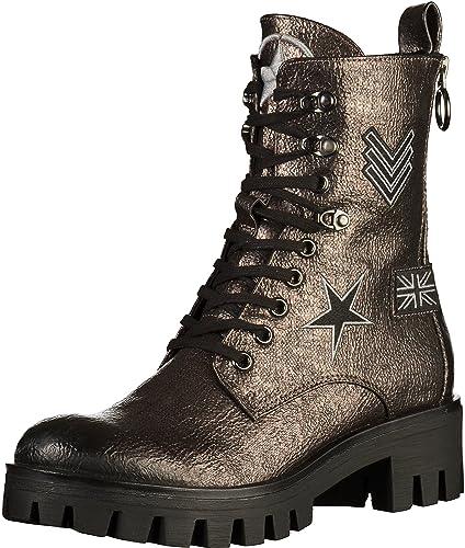 Maciejka Stiefel im Military Look Damen Schuhe Leder Blockabsatz KUXAKLZDX