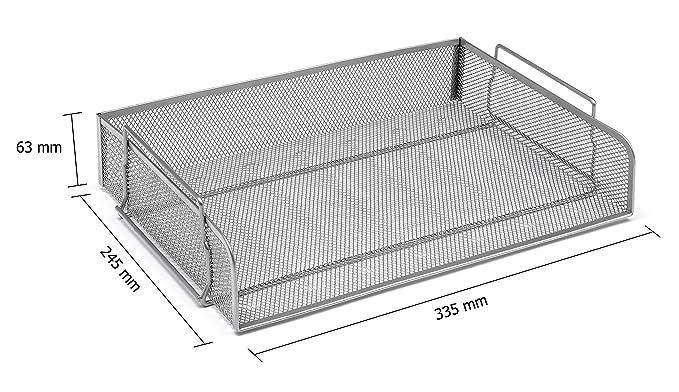 Osco LTSSL-SLV - Bandeja para cartas horizontal de malla metálica, color plateado: Amazon.es: Oficina y papelería
