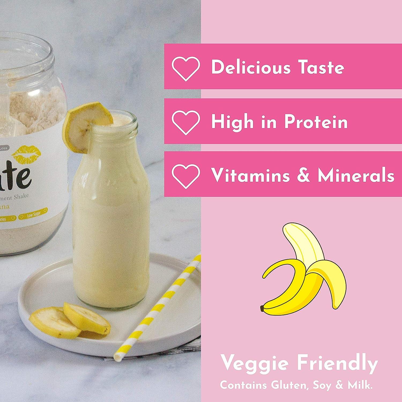 Cute Nutrition Batido Sustitutivo de Comida Sabor Platano para el Control de la Pérdida de Peso en Polvo Bebida Dietética para Mujer Bote de 500 g: Amazon.es: Salud y cuidado personal