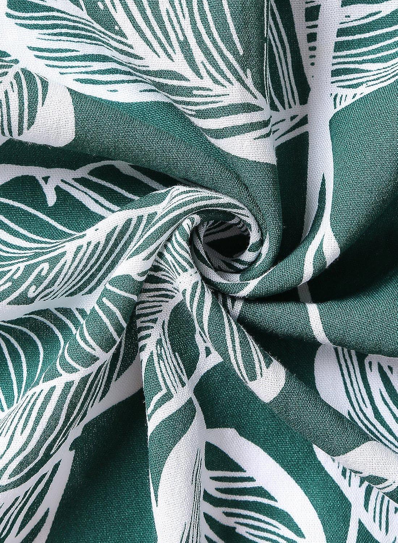 Blooming Jelly Women Dress Spaghetti Strap Floral Leaf Print Sleeveless Mini Beach Sundress