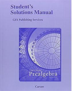 Prealgebra 4th edition tom carson 9780321756954 amazon books student solutions manual for prealgebra fandeluxe Choice Image