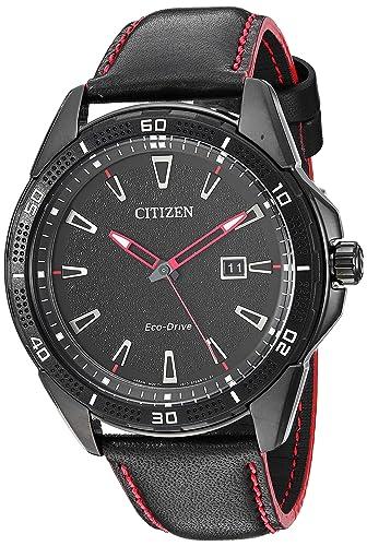 Citizen Reloj de Hombre Eco-Drive Correa de Cuero Caja de Acero AW1585-04E: Amazon.es: Relojes