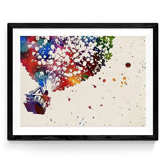 Lámina para enmarcar UP estilo acuarela. Posters decorativos para pared. Láminas para decorar tu hogar. Papel 250 gramos alta calidad